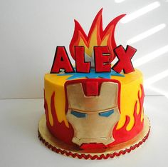 This is perfect for jr !!!! iron man cake