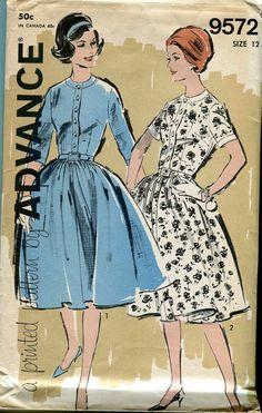 Advance pattern 9572 Vintage 60s Shirtwaist Dress by bellaloona, $6.00
