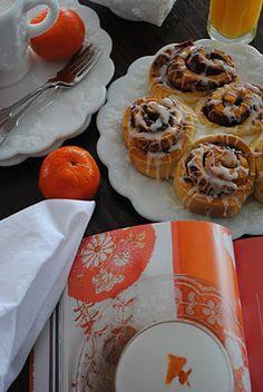 Homemade orange glazed cinnamon rolls