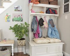 Stylish, functional accessories to help you get your new mudroom organized from wayfair.com | thisoldhouse.com