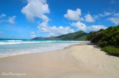 Long Bay Beach, Tortola. One mile of white, soft sand and beautiful blue water... Click for more info!