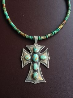 Small Turquoise Cross Necklace from Legendary Western