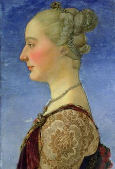 Portrait of a young woman,c.1475 byAntonio del Pollaiolo