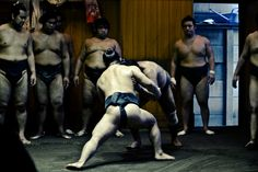 Sumo wrestling training, Tokyo, Japan.  Photography by jorcolma of flickr