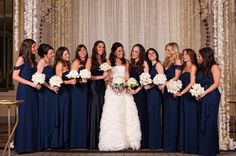Navy Blue Wedding Inspiration from Facebook