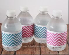 Free Chevron Water Bottle Labels at thatswhatchesaid.net