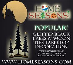HomeSeasons.com -  Halloween Glitter Black Trees with Moon tips Tabletop Decoration (Set of 3PC) http://www.homeseasons.com/Halloween-Decorations/Halloween-Glitter-Black-Trees-with-Moon-tips-Tabletop-Decoration-Set-of-3PC-p42.html