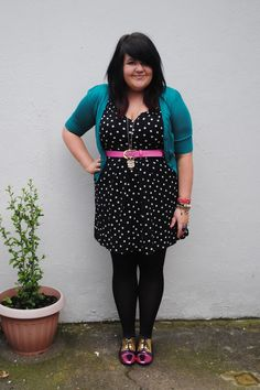 fashion thing, polka dots, outfit idea, cloth, fashion blogs, curvi fashion, street style fashion, person style, size 16
