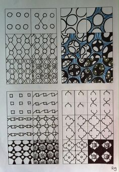 Zentangle tutorial Zentangle stappenplan