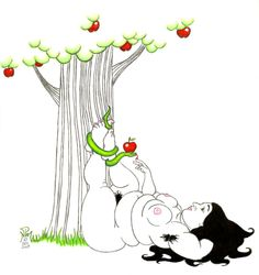 Google Image Result for http://fc00.deviantart.net/fs23/f/2007/353/9/6/Eve_and_the_Apple_Tree_by_LimeGreenSquid.jpg