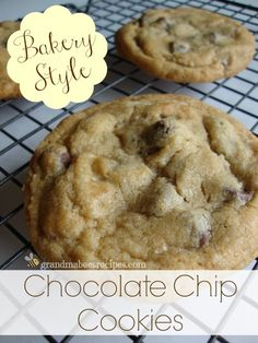 Bakery Style, Soft & Chewy Cookies - BEST EVER!