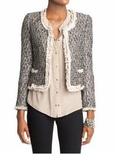 love this tweed jacket. .