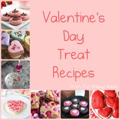 TONS of Valentine's Day Treat Recipes! This is the only page you will need to do all your Valentine's Day baking!