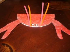 classroom idea, june preschool, sealife crafts, crab craft, seas