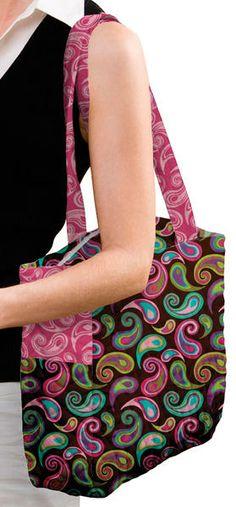 Daisy Kingdom City Tot Diaper Bag-Teardrop Paisley-Brown
