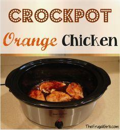 Crockpot Orange Chicken Recipe at TheFrugalGirls.com