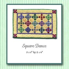 Hey, I found this really awesome Etsy listing at https://www.etsy.com/listing/84696603/square-dance-miniature-knotwork-kit