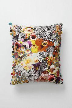 Fringed Botanicals Pillow, Anthropologie