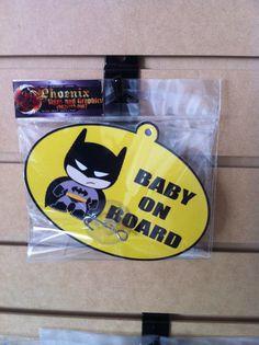 Batman Baby On Board Smurf Spiderman Avengers by PhoenixSigns, $5.00