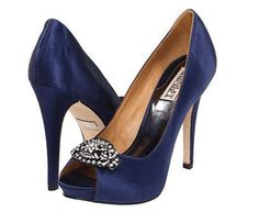 REVEL: Navy Wedding Shoes... These would be perfect...