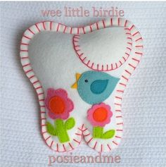Birdie Sitting in a Tree Tooth Fairy Pillow