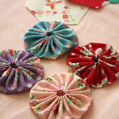 yoyo, sew, fuxico, craft, quilt, yo yos, diy