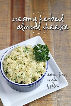 "Creamy Herbed Almond ""Cheese"""