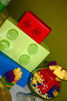 LEGO decorations - perfect for a birthday party