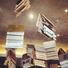 hanging books at Tasha's