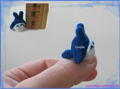 Miniature Totoro Free Crochet Thread Pattern by Amigurumi To Go