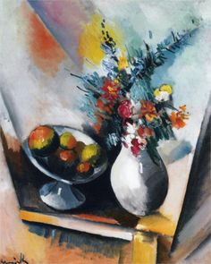 Fruit and Flowers by Maurice de Vlaminck
