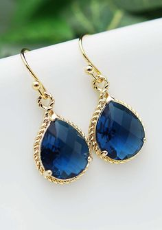 Bridesmaid Earrings Sapphire