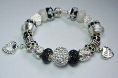 black and white pandora bracelets | PANDORA Bracelet Designed with European Beads and Charms Black ...
