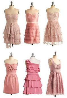 Blush bridesmaids dress ideas @Kara Morehouse Morehouse Miller  some of these are cute and unique!