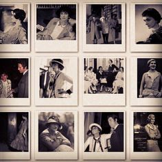 #Polaroid wall of mademoiselle #coco. #cocochanel #chanel #chic #icon #france #paris - @chanelblanc- #webstagram