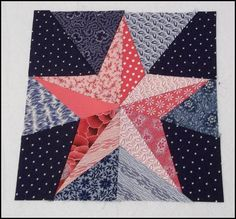 5 Pointed Star Paper Piecing free