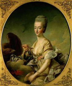Marie Antoinette, portrait by Francois Drouet.