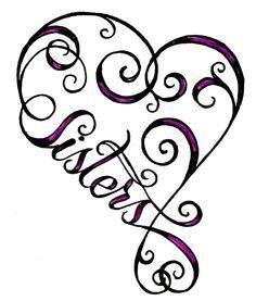 heart sister tattoo
