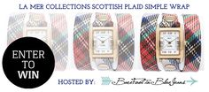 La Mer Limited Edition Scottish Plaid Simple Wrap Watch Giveaway!! (us/can) #LaMerCollections #barefootinbluejeans