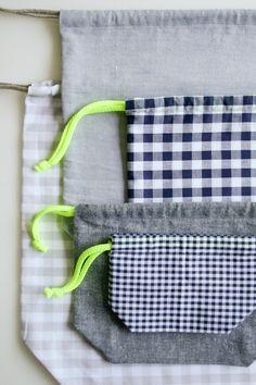 Drawstring bag @PurlBee