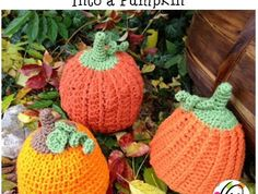 Pumpkin Hats made from Snappy Tots patterns