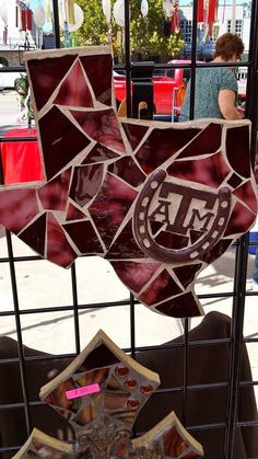 Texas A&M Mosaic stained glass tile... so pretty!