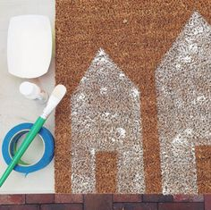 Just in time for the holidays, make this adorable custom doormat in just two simple steps!