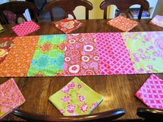 anna maria horner table linens by sewfunbymonique, via Flickr