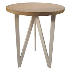 Threshold™ Wood and Metal Accent Table