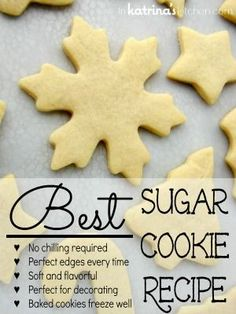 Seriously, the best sugar cookie recipe ever!