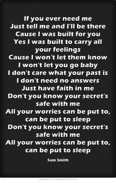 Gallery For gt Sam Smith Stay With Me Lyrics