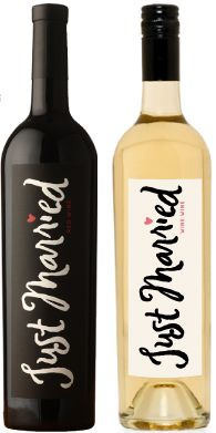 just married wine labels