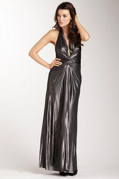 Issa London Metallic Halter Dress on HauteLook