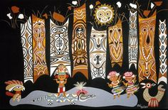"Mary Blair's Concept Sketches for ""It's a Small World"" for 1964 NY Fair"